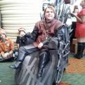 Radnom funny picture tags: game-of-thrones wheelchair cosplay Iron-Throne  costume