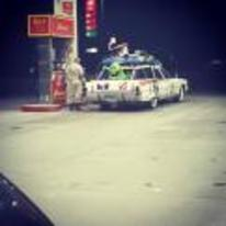 Radnom funny picture tags: gas-station ghostbusters car cosplay slimer