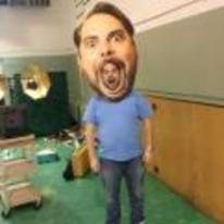 Radnom funny picture tags: giant-head halloween costume genius mask