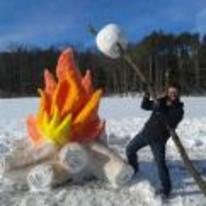 Radnom funny picture tags: giant snow-fire marshmallow snow-sculpture fire