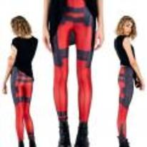 Radnom funny picture tags: girl deadpool leggings cosplay gym-pants
