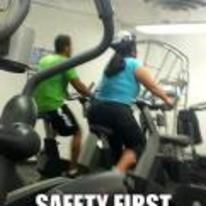 Radnom funny picture tags: girl gym wearing-helmet bike safety-first