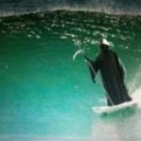Radnom funny picture tags: grim-reaper death surfing surf Scythe