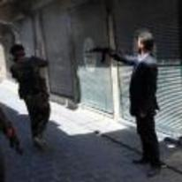 Radnom funny picture tags: guy-in-suit with-gun gun alley AK47
