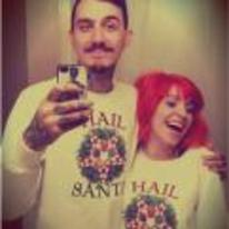 Radnom funny picture tags: hail-santa couple jumpers picture selfie