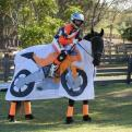 Radnom funny picture tags: horse dressed like motorbike costume