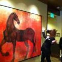 Radnom funny picture tags: horse-head mask painting tada mask