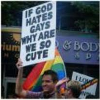 Radnom funny picture tags: if-got-hates-gays why-are-we-so-cute protest sign best