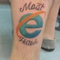 Radnom funny picture tags: internet-explorer tattoo most-hated awful YOSPOS