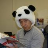 Radnom funny picture tags: jackie-chan wearing panda hat head