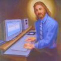 Radnom funny picture tags: jesus lets-chat im-always-online book painting