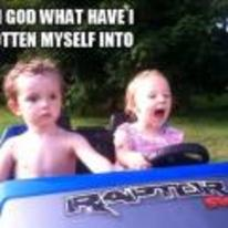 Radnom funny picture tags: kid scared in-car what-have-I-got-myself-into girl-driving