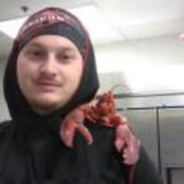 Radnom funny picture tags: kitchen lobster selfie shoulder lobster-selfie