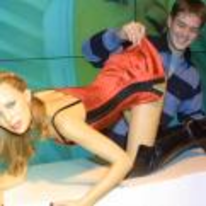 Radnom funny picture tags: kylie-minogue waxwork looking-up-skirt smiling Madame-Tussauds
