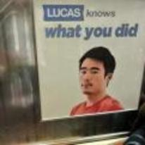 Radnom funny picture tags: lucas-knows-what-you-did lucas sign snitch keep-your-mouth-shut-lucas