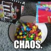 Radnom funny picture tags: m-and-m skittle same-bowl chaos macro