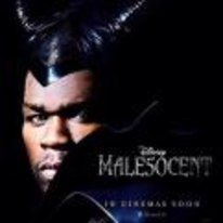 Radnom funny picture tags: male50cent movie poster maleficent spoof