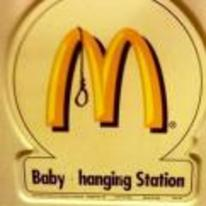 Radnom funny picture tags: mcdonalds baby hanging station sign