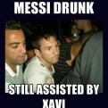 Radnom funny picture tags: messi drunk xavi assisted football