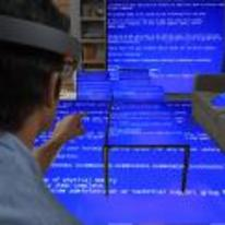 Radnom funny picture tags: microsoft-AR blue-screen BSOD microsoft Microsoft-HoloLens