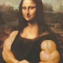 Radnom funny picture tags: mona-lisa muscles do-you-even-lift hoist thou