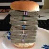 Currently trending funny picture tags: money-burger cash money sandwich burger