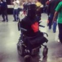 Radnom funny picture tags: monty-python black-knight cosplay no-legs wheelchair