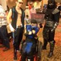 Radnom funny picture tags: mortal-kombat fatality-survivor wheelchair cosplay costume