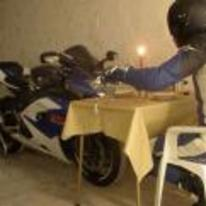 Radnom funny picture tags: motorbike valantines day meal-for-two candle