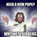 Radnom funny picture tags: need-a-new-pope why-not zoidberg pope futurama