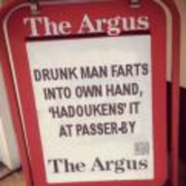 Currently trending funny picture tags: newspaper drunk-man farts hadouken street-fighter