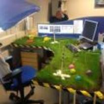 Currently trending funny picture tags: office prank grass desk Crocket