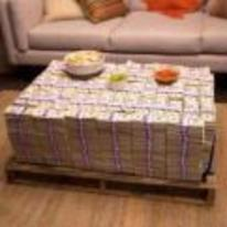 Currently trending funny picture tags: pallet-of-money coffee-table table want money
