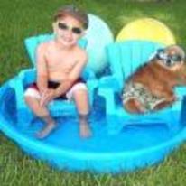 Radnom funny picture tags: pimp kid dog cool swimming-pool
