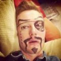 Radnom funny picture tags: pirate prank asleep draw face