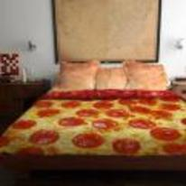 Radnom funny picture tags: pizza bed cover duvet need