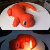 Radnom funny picture tags: pokemon pokemon-cake charmander charmander-cake candle-tail