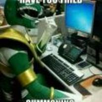 Radnom funny picture tags: power-ranger tech-support YOSPOS green-ranger tried-summoning-the-dragonzord