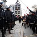 Radnom funny picture tags: protest riot police doughnut dangle