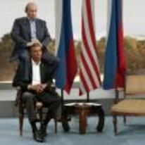 Radnom funny picture tags: putin sitting-on obama shoulders head