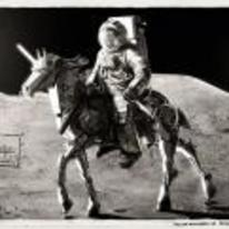 Radnom funny picture tags: robo-horse Astronaut moon nasa black-and-white