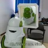 Radnom funny picture tags: robot recognises self oh-this-is-me nice