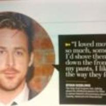Radnom funny picture tags: ryan-gosling loves movies down-pants quote