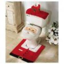 Radnom funny picture tags: santa-toilet father-christmas toilet cover seat