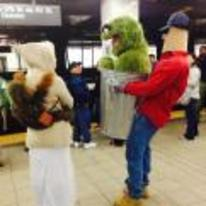 Radnom funny picture tags: sesame-street oscar grouch costume illusion