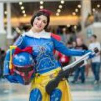 Radnom funny picture tags: snow-white boba-fett cosplay costume star-wars