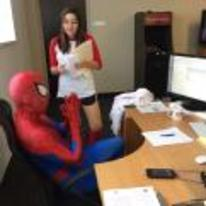 Radnom funny picture tags: spiderman costume office business boss