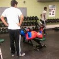 Radnom funny picture tags: spiderman gym working-out weird costume
