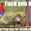 Radnom funny picture tags: spiderman kid trap drunk chicks