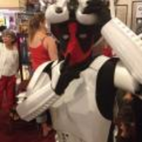 Radnom funny picture tags: star-wars deadpool costume cosplay shh